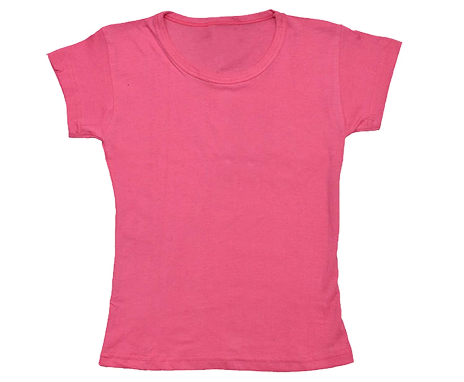 Pack of 4 Indistar Girls Cotton Half Sleeves Solid T-Shirts