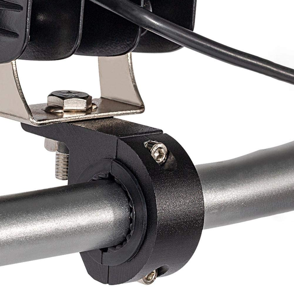 Motorrad Lenkerklemme Universal 22mm Motorrad Lenker Riser Klemmen Motorrad LED Light Bar Clamps Halterungen Rohrschellen-Montagesatz f/ür Motorrad Nebelscheinwerferhalterung