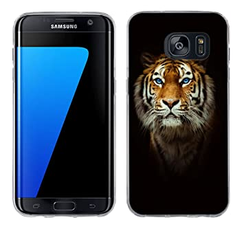 Funda Galaxy S7 Edge, Fubaoda [testa di tigre] Carcasa Claro ...
