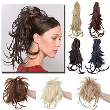 Amazon Messy Bendable Claw On Ponytail Hairpiece With Braids