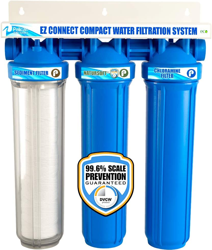 Pelican 3-Stage Water Filtration & Softener Combo EZ-Connect 20""