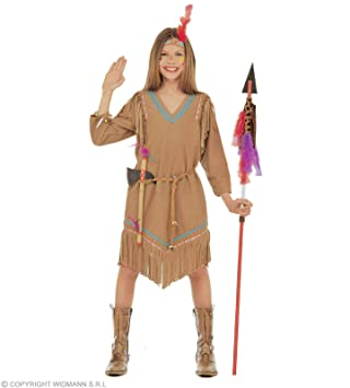 WIDMANN Widman - Disfraz de indio del oeste para niña 2d9a7de8c28