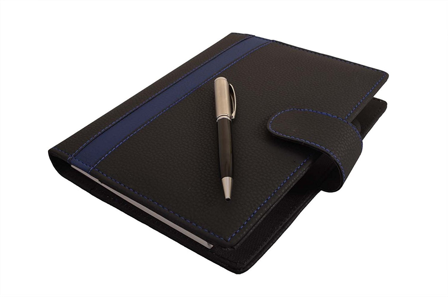 Coi Black and Blue Best self Journal Business undated Passion Goal Planner/Daily Diary & Little More Organizer/Personal Planner 2017-2018 with Pen with Free Pen