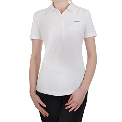 Reebok Core - Polo Mujer - Normal - Blanco - M: Amazon.es ...