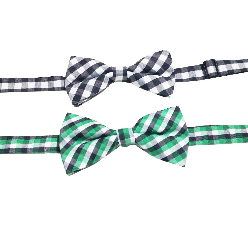 PET SHOW Plaid Dog Bow Ties Adjustable Collar Bowties for Small Dogs Puppy Cats Party Pet Collar Neckties Grooming Accessories Pack of 8 by PET SHOW (Image #4)