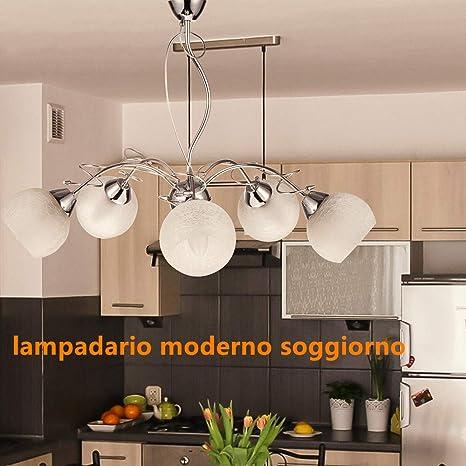 Lampadari Moderni Lampadario Soggiorno Sospensione Led Lampadario 5 ...
