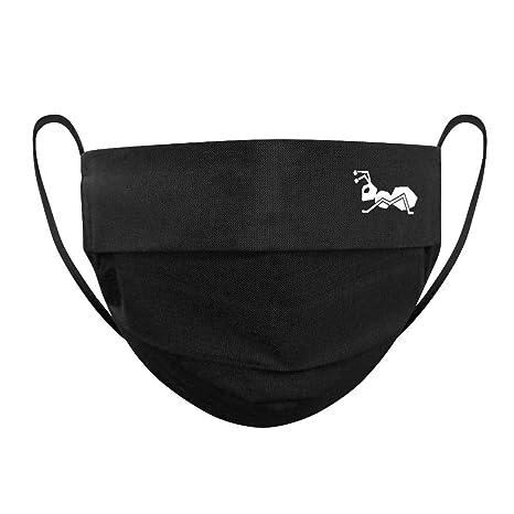 Strongant Mund Nasenmaske Mundbedeckung 100 Bw 2 Lagen Wiederverwendbar Waschbar Made In Eu Schwarz Auto