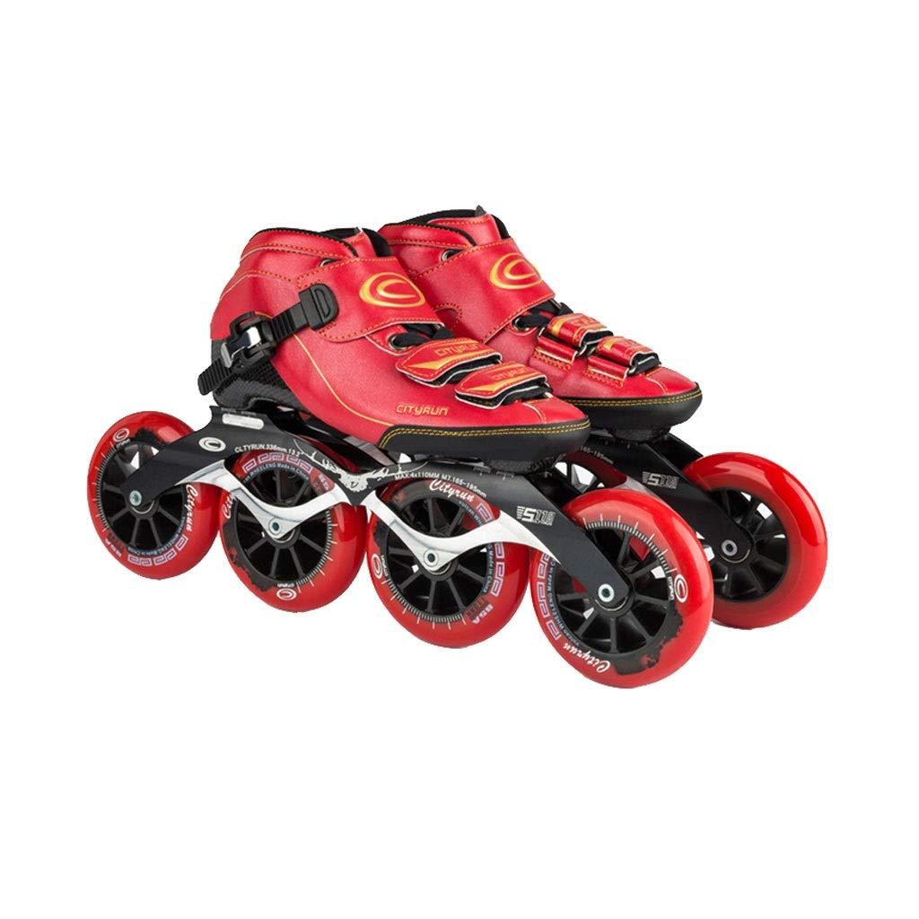 Ailj インラインスケート、 4X90MM-110MMホイール 子供用大人用単列スケート靴 炭素繊維熱可塑性ローラースケート 3色 (色 : A, サイズ さいず : EU 42/US 9/UK 8/JP 26cm) B07QCJLCK6 EU 35/US 4/UK 3/JP 22.5cm B B EU 35/US 4/UK 3/JP 22.5cm