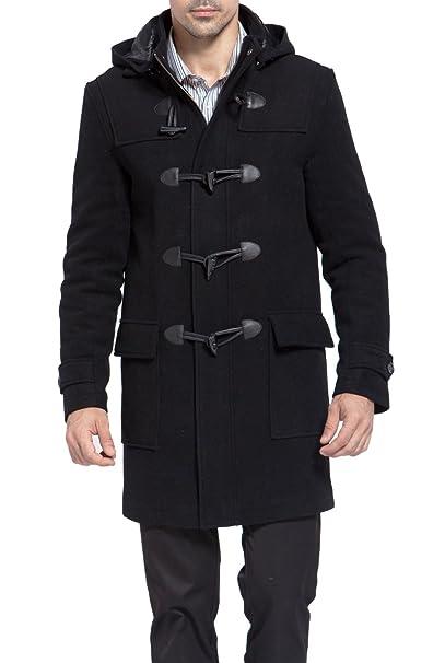 b21db65ababa BGSD Men's Benjamin Wool Blend Classic Duffle Coat (Regular Big & Tall