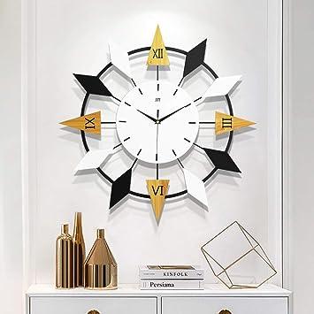 GZHYTAN Moderno Reloj Minimalista Reloj de Pared Reloj de Casa Sala de Estar Dormitorio Personalidad Atmósfera de Moda Arte Nórdico Carteles de Mute (Color : A, Tamaño : 20 Inches): Amazon.es: Hogar