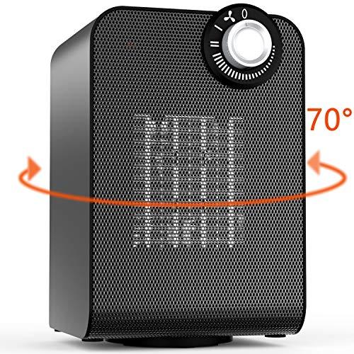 Calentador de espacio eléctrico oscilante automático con termostato para el hogar y la oficina funcionamiento silencioso 1000 1800W