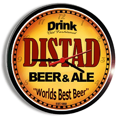 DISTAD beer and ale cerveza wall clock