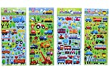 Transportation Stickers 8 Sheets with
