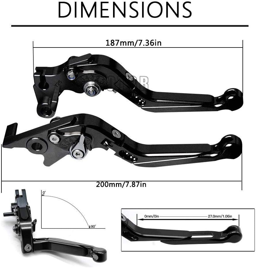 YHUISEN Moto Freno Leve di Frizione in Alluminio CNC Leva Regolabile Maniglia for Honda CBR 600RR CBR600RR 2003 2004 2005 2006