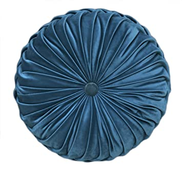 Amazon.com: YunNasi - Almohada redonda plisada con relleno ...