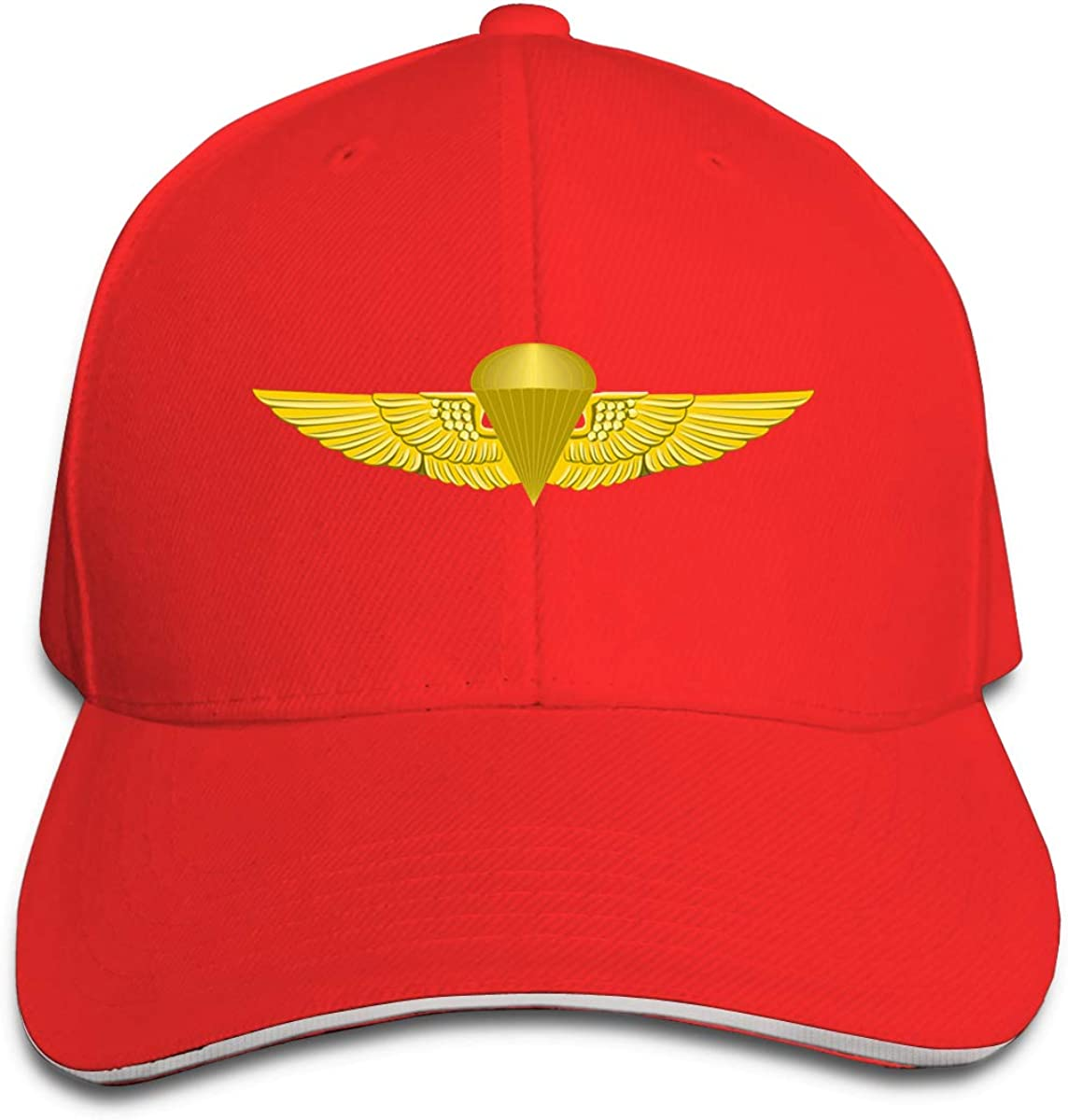 Marine Corps Jump Wings Unisex Adult Baseball Caps Adjustable Sandwich Caps Jeans Caps Adjustable Denim Trucker Cap
