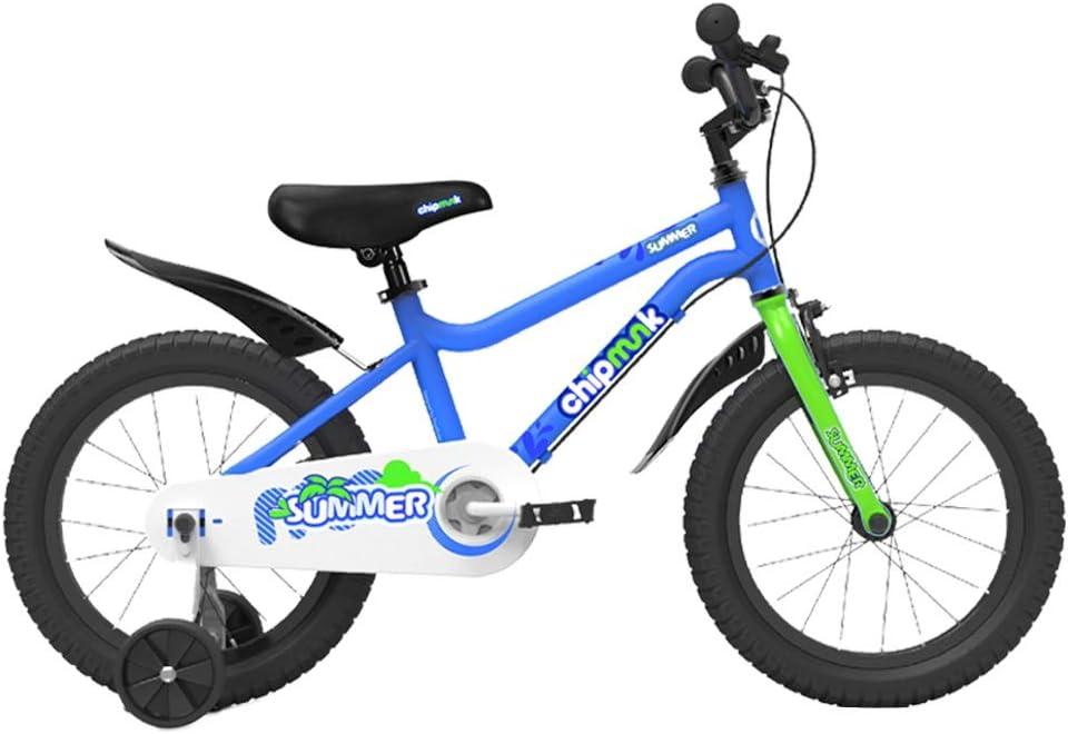 Bicicletas infantiles y accesorios Bicicletas para Niños Ligero para Niños Pedal para Niños Bicicletas para Niños Y Niñas Bicicletas De 3-10 Años De Edad (Color : Blue, Size : 16 Inch)