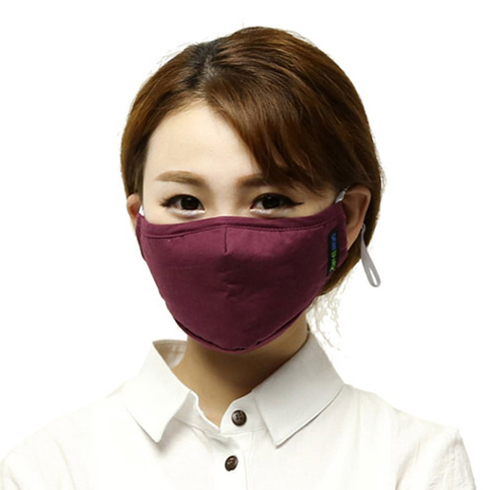 Küssen U Unisex Aktivierter Kohlenstoff Filterung Anti PM 2.5 Pollen Staub Gesicht Gesichtsmasken Mundschutz Masken Mit Verstellbarem Ohrbügel