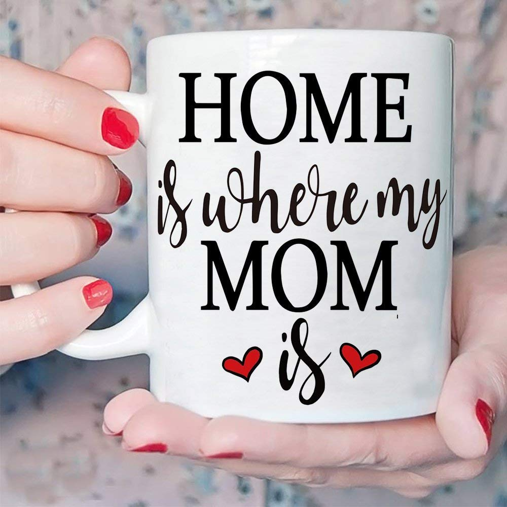 Amazon Com Inspirational Gifts For Mom Coffee Mug Home Is Where My