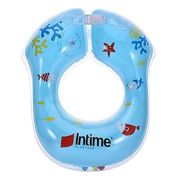 Ibanana - Flotador ajustable inflable para bebés (8 meses a 2 años), azul: Amazon.es: Deportes y aire libre