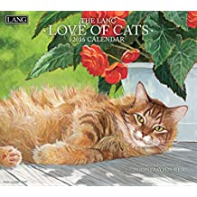 Perfect Timing Lang Love of Cats 2016 Wall Calendar by Persis Clayton Weirs, January 2016 to December 2016, 13.375x24-Inch (1001926)