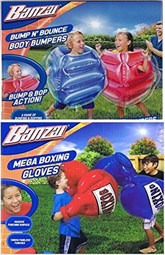 3ee0bf7bf Amazon.com  Kids Inflatable Mega Boxing Gloves 1 set and Bump n ...