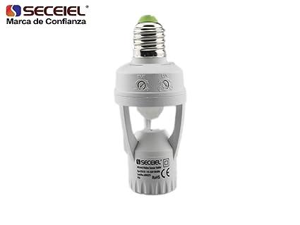 SECEIEL-Interruptor E27 detección de movimiento 360º detector de movimiento Infrarrojo mediante el adaptador E27