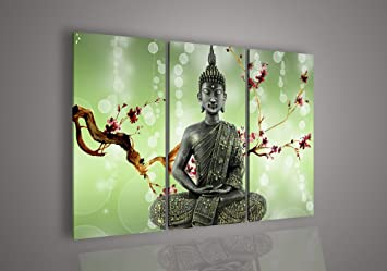 Amazoncom Wall art God Home Decor India Buddha Oil Painting on