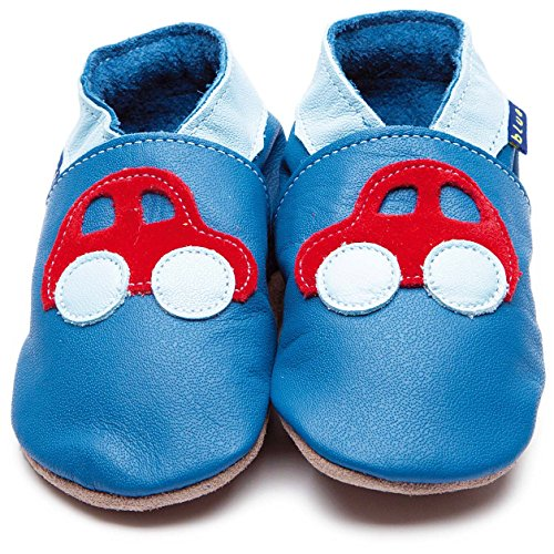 Inch Blue Krabbelschuhe Car Blue/Red, Child Small