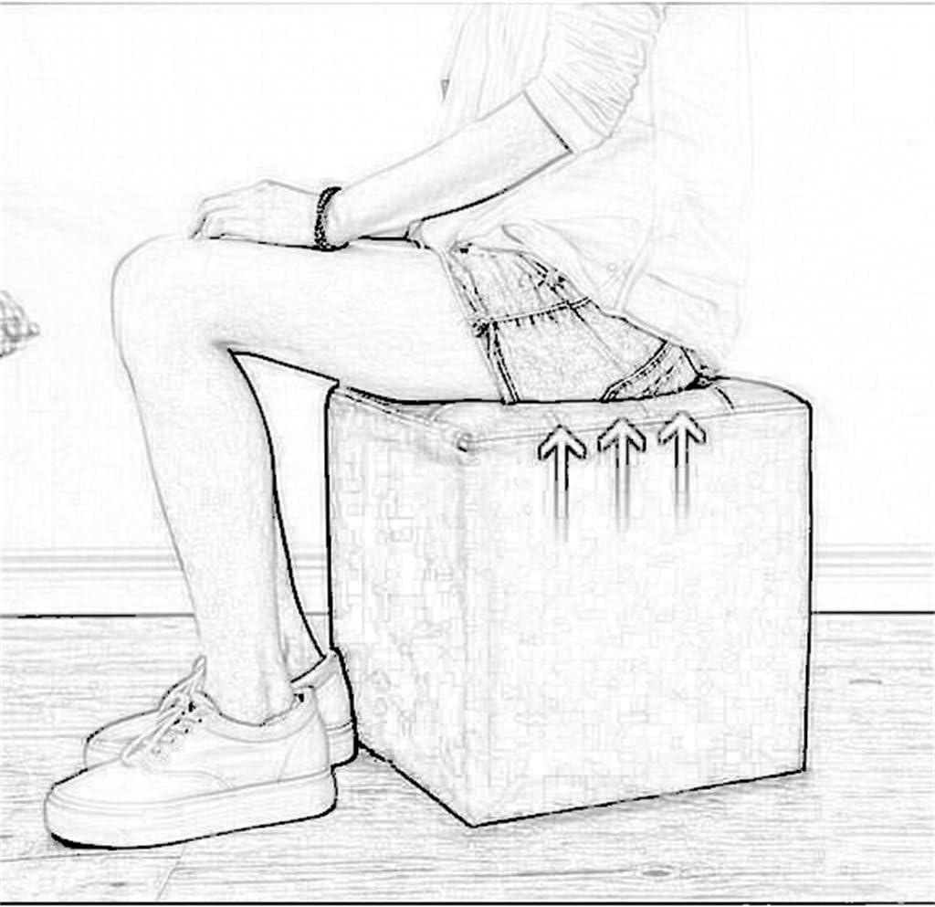 Wohnzimmer Sofa Dressing Change Schuhe Hocker Sitzkissen Sitzsack Fu/ßst/ütze Fu/ßst/ütze Kleiner Stuhl//Sitz Gepolsterter Fu/ßhocker Ottoman Chair Bench Lagerung Hocker Mode PU Fu/ßbank Braun,