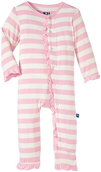 8291fde2c0c1 KicKee Pants Baby Girls  Ruffle Coverall  Amazon.in  Clothing ...