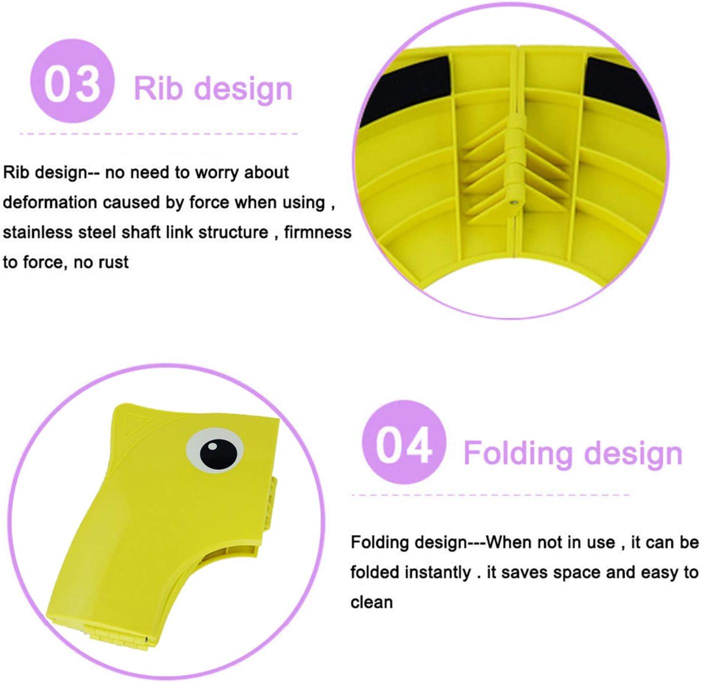 CNNIK Coj/ín de asiento de inodoro de silicona antideslizante Tapa Plegable WC port/átil reutilizable Viajar inodoro orinal de entrenamiento cubiertas de asiento para ni/ños