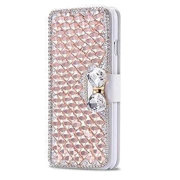 Lila Homikon PU Leder H/ülle Retro Sch/ön Gl/änzend Glitzer Diamant Schmetterling Schutzh/ülle Brieftasche Ledertasche Handyh/ülle Frau Flip Wallet Case Kompatibel mit Samsung Galaxy S6 Edge Plus