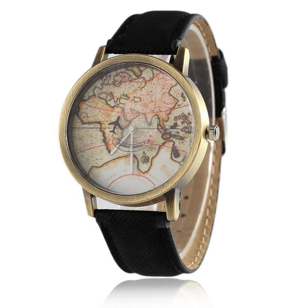 WLFPEG Mirar Pergamino Mapa De Papel Reloj Avión Segunda Mano ...