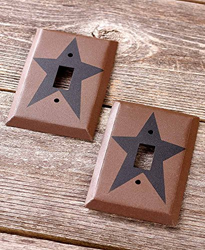 (The Lakeside Collection Primitive Set of 2 Single Light Switch Plate)