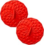 GIR: Get It Right Premium Silicone Round Lid, 4 Inches, Red, 2 Pack