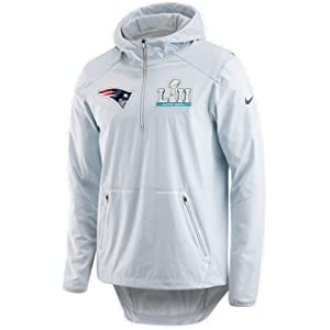 Nike Men s New England Patriots Super Bowl 52 Alpha Shield Media Day Jacket  Platinum 378abfc0b