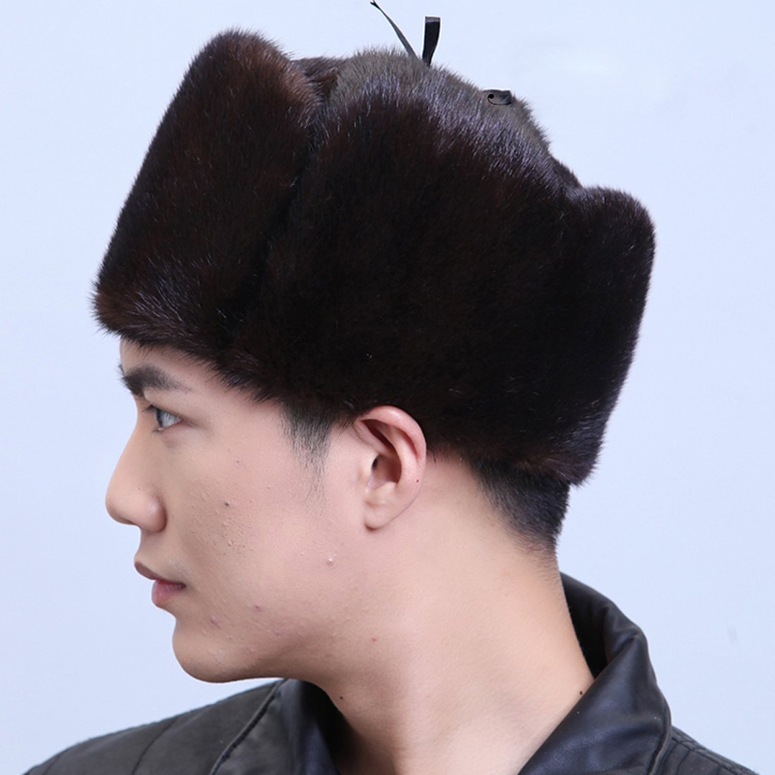 URSFUR Mink Full Fur Russian Hat (One Size, Brown) by URSFUR (Image #2)