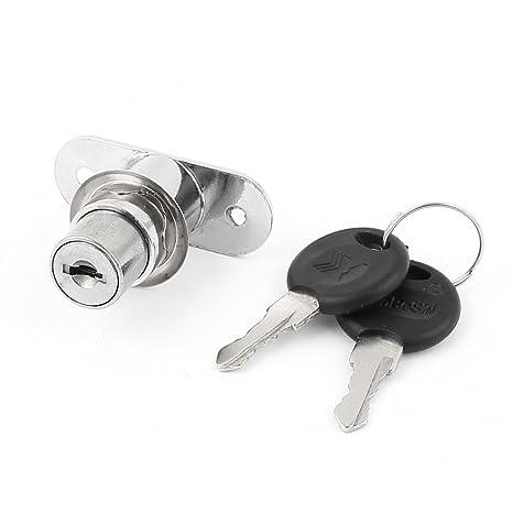 Metal colgador para rueda para puerta corredera cerradura de émbolo + dos llaves