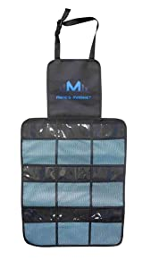 Mike's Market Back Seat Car Organizer, Ideal for Uber, Lyft and Taxi Drivers, 9 Large Pocket Storage, for Car, SUV, Minivan, Easy to Set-Up, Black Straps, Pack of 1