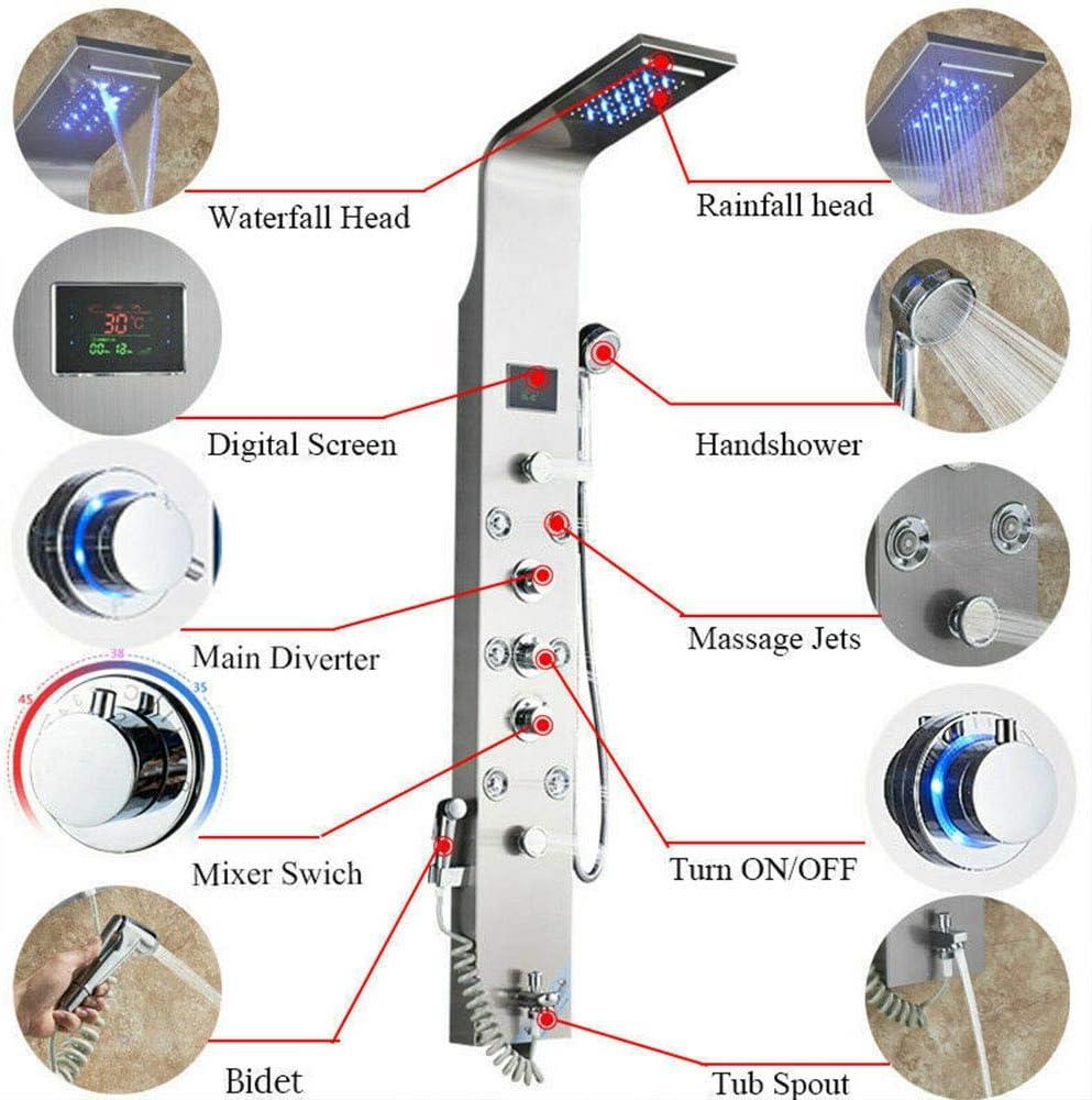 Onyzpily - Panel de ducha LED con sistema de regadera de baño ...