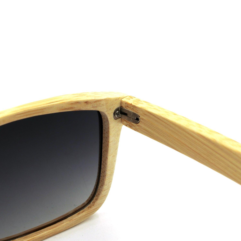 e617c90eb43 Amazon.com  Bamboo Sunglasses - 100% Hand Made Wooden Sun Glasses ...