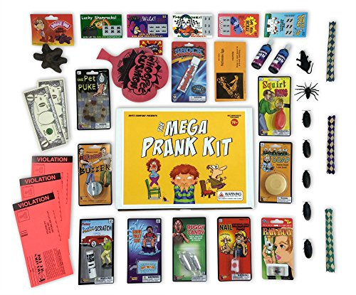 The Mega Prank Kit - 35 Funny Pranks and Jokes in a Gift - Fools Pranks Hilarious April Day