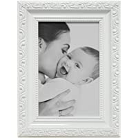 Porta Retrato Clássico, Kapos, Branco, 13 x 18 cm