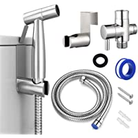 Home-Mart Bidet Sprayer for Toilet and Baby Cloth Diaper Sprayer, Stainless Steel Bathroom Jet Sprayer Kit Spray…