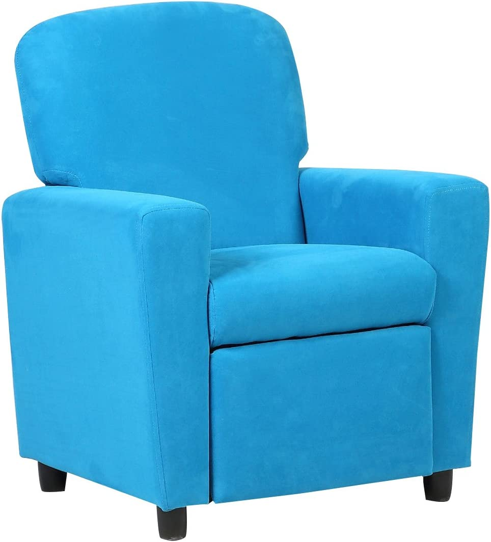 Costzon Kids Recliner Sofa Chair Children Reclining Seat Couch Room Furniture Blue