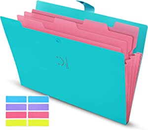 Skydue Expanding File Folders with Pockets, Letter A4 Paper Organizer Folder Accordion Document Organizer for School Office Home(Sky Blue)