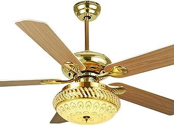 LAMP®-Golden Ventilador de techo Continental Retro Salón de ...