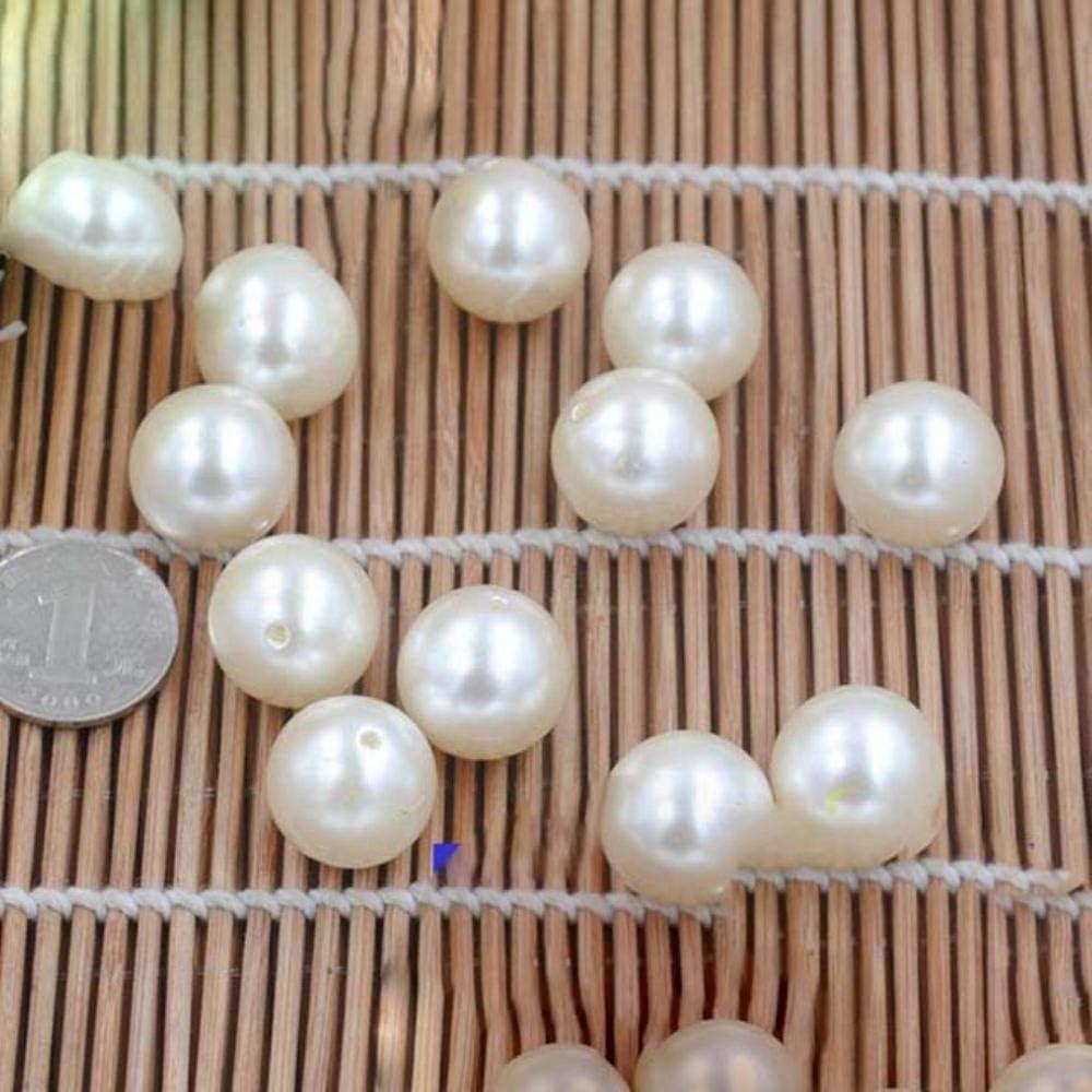 WOOAI 20-40 mm DIY regalos marfil, perlas redondas grandes para joyas, accesorios, perlas y joyas, collar, pulsera, fabricación, material, 20 mm (15 unidades)