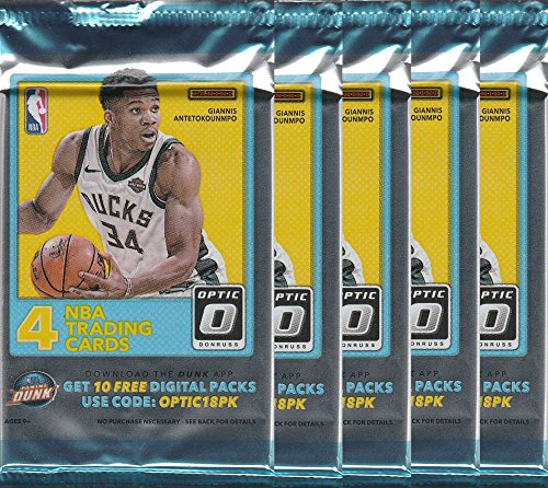 2017-18 Panini Donruss Optic Basketball Unopened 5 Retail Pack (4 Cards  each) 94cc59047